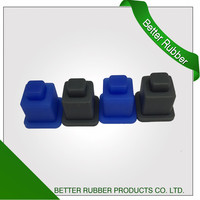custom molded silicone rubber buttons/ push button/single button From China