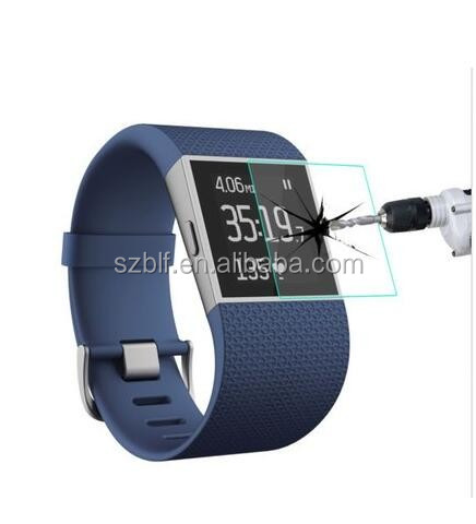 China factory manufacturing explosion proof tempered glass anti fingerprint for fitbit blaze screen protector