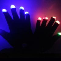 glow gloves - led light up gloves