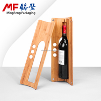 Carbonized bamboo board wine bottle box rub olive oil