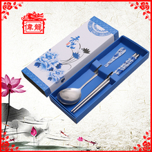 Wholesale Blue and White Children Tableware Set for restaurants BXG008