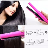 Ceramic Rechargeable Mini Hair Straightener For