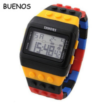 Hot-selling Vogue Rainbow Colors Lady Silicone LED Electronic Watch for Children