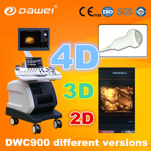 high quality real time 3D 4D ultrasound machine & medical mobile color doppler