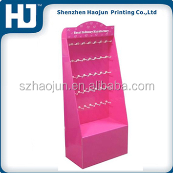 Pos hooks cardboard displays for accessories, exhibition accessories hook stand, plastic pegboard hooks counter