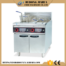 stainless steel commercial electric 2 tanks deep fat fryer with timer DF-26-2A