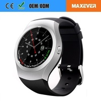 New Mens 1.3 Round Fullscreen IPS Touch Screen Mobile Watch Phones