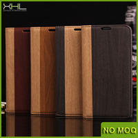 Wooden Skin Phone Cover Stand Leather Wallet Case For Samsung Galaxy s5