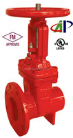 UL FM 200PSI RISING STEM DUCTILE IRON FLANGE* GROOVE GATE VALVE