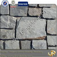 Natural quartzite castle stone veneer wall
