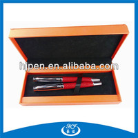 Metal Ball Pen Case Leather,Leather Pen Set