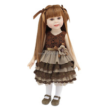 Wholesale Factory Lifelike Full Soft Silicone 18 inch American Girl Doll with Clothes Set