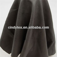 0.7mm dark charcoal drapery soft 100% viscose pu fake leather fabric