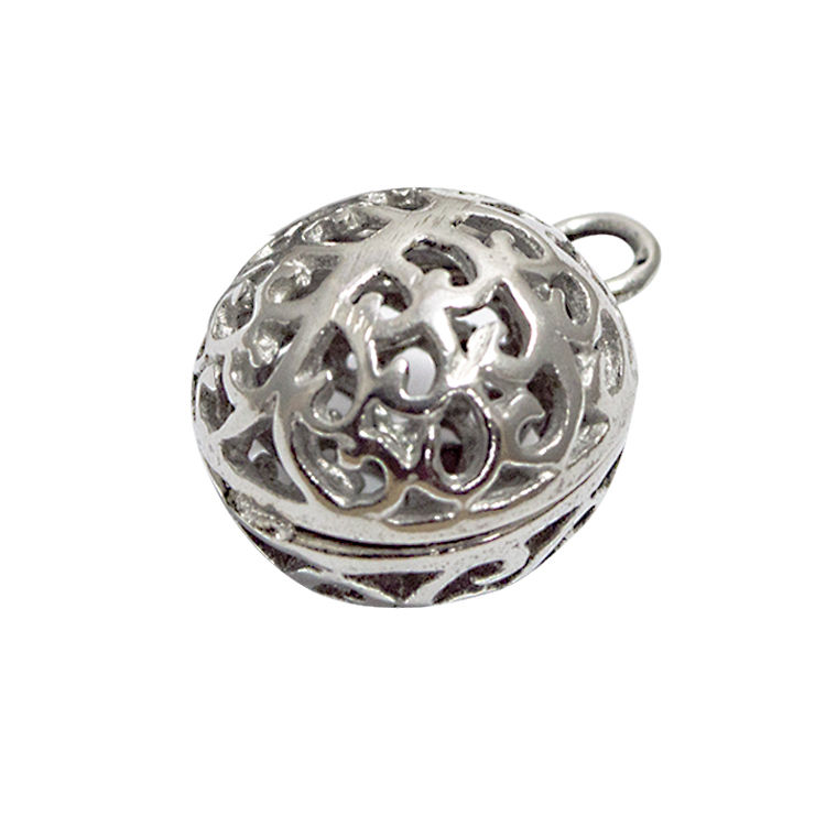 Personalized ball shaped stainless steel custom pendant+316L stainless steel round charm pendant