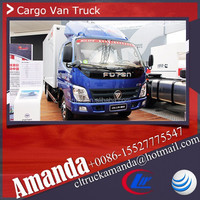 The price of Foton van, Foton 4*2 118hp small van truck