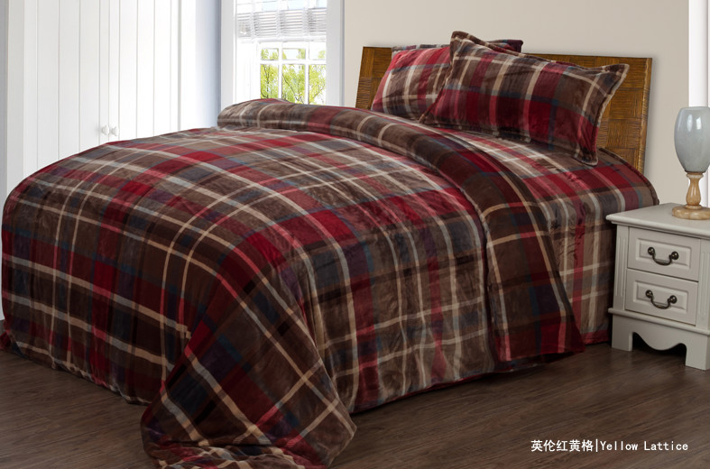 Flannel fleece besheet set for double bedding