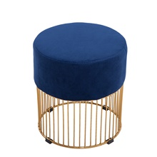 Cheap Modern Step Stools Changing Shoes Ottoman Makeup Stool Bed Foot Stool With Golden metal Base on Sale