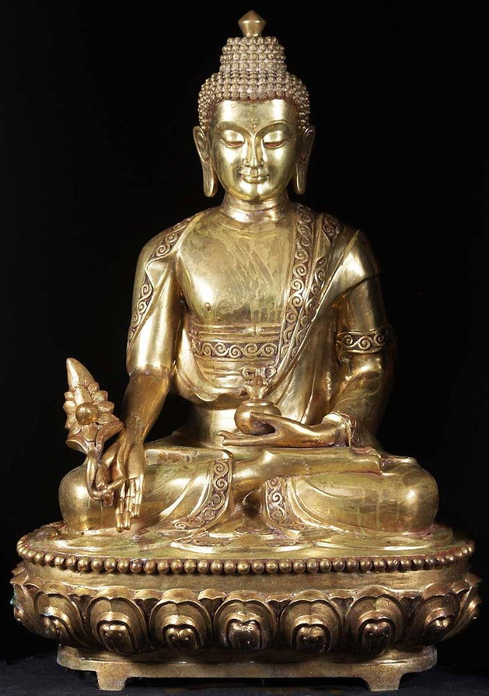 Regional Feature antique metal life-size buddha thai bronze statue