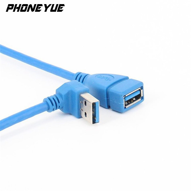 High Speed Revolution Mother Extension Adapter 90 Degree Elbow USB 3.0 Data Line Cable