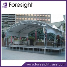 Hot salel indoor concert dance plywood aluminum stage design with high quality