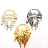 2016 Metal Alloy Bottle Opener Cool Spaceship Design Kitchen Tool Best Quality Millennium Falcon Bottle Opener