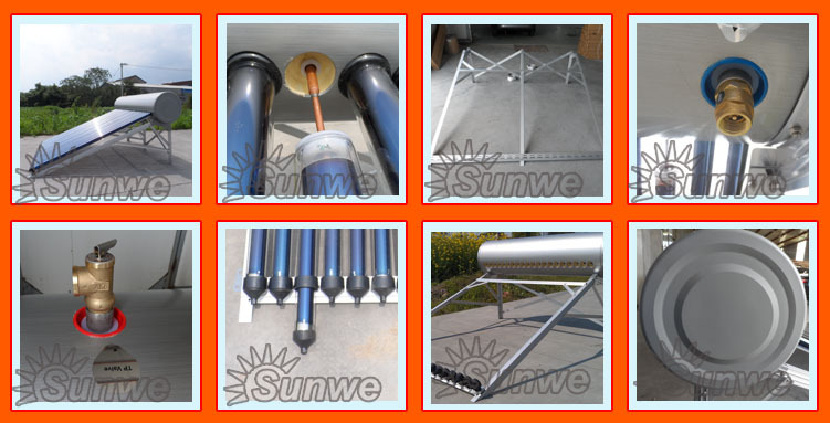 Roof mounted close coupled solar water heater