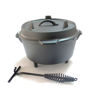Wholesale campfire cookware three legged camping Cast Iron pots