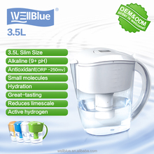 Wellblue alkaline water mineral pot for home application