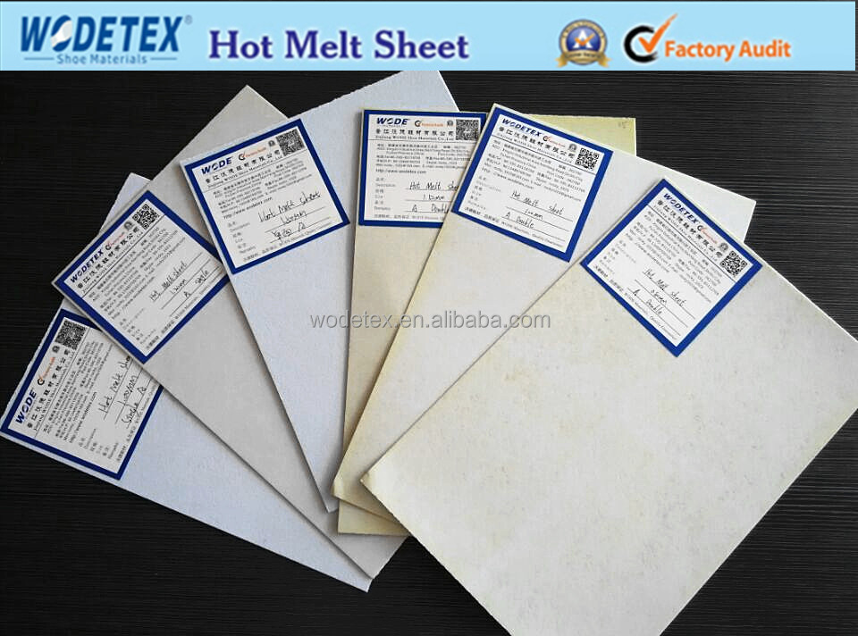 manufacturer sheet hot sale hot melt sheet glue for shoe material