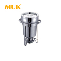 MUK hotel restaurant supplies round stainless steel soup station chafing dish