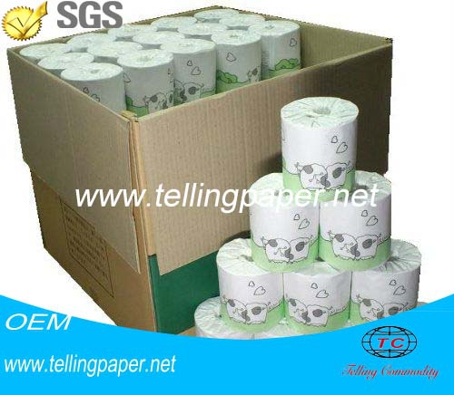 Factory wholesale OEM printed individyally paper wrapping 4 pack toilet paper roll