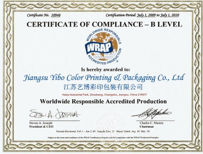 Certificate of Compliance -B Level