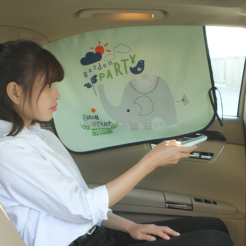 Promotional cheap customized logo printing car sunshade with side window