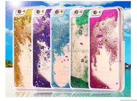 i6 Dynamic Liquid Glitter Sand Quicksand Star Case For iphone 6 Plus Crystal Clear Cellphone Back Cover For Apple iphone 6 4.7''