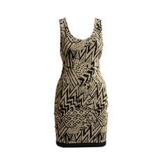 Sexy Women's Elegent Retro Jacquard Slim Fit Seamless Sleeveless Tube Backless Party Dress