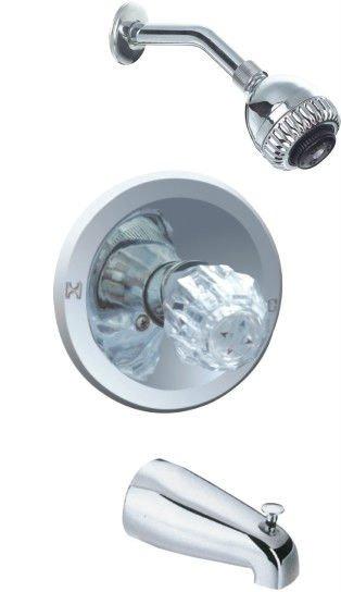 three piece single handle upc shower faucet