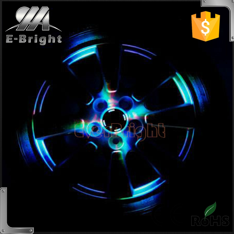 Superbright 12Leds Waterproof Solar Powered Shinning Wheel Hub Light,chrome wheel center caps