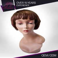 Machine Made Natural Wave Alibaba Short Bob African American Wigs