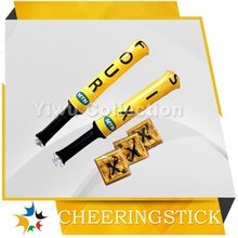 peace sign inflate stick,glow cheering stick,pe inflatable cheering sticks with ball head