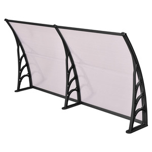 Drop Arm Transparent PC Windproof Awnings