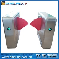 900mm width passageway anti-tailgate RFID access control intelligent glass barrier retractable flap gate