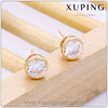 90148 fashion jewelry indian stud earrings 18k gold color plated gold earring studs
