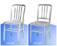 Brushed Anodized Navi Aluminum Side Chairs