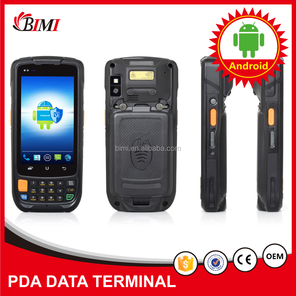 Factory cheapest handheld barcode scanner rugged outdoor barcode scanner with display android PDA