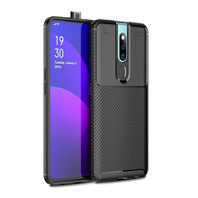 Laudtec New Carbon Fiber Tpu Silicone Back Phone Cover Case For OPPO F11 Pro