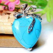 Occident hot sell products synthetic turquoise heart pendant jewelry/turquoise/turquoise pendant