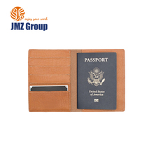 Manufacturer Professional custom RFID leather personalized passport holder wallet
