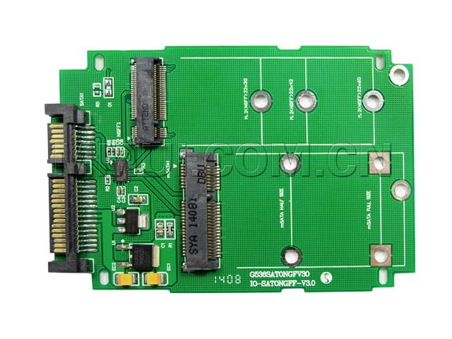 M.2 B KEY NGFF or mSata SSD to SATA III 3 Adapter Card