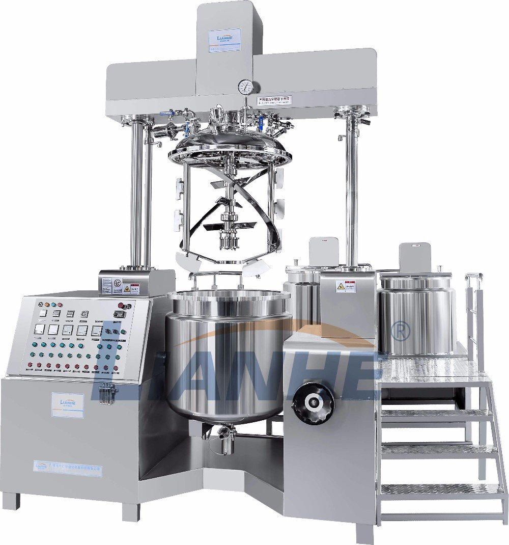 Guangzhou Lianhe Cosmetic Homogenizer Mixer,Automatic Body Lotion Cream Making Machines,Vacuum Emulsifying Equipment
