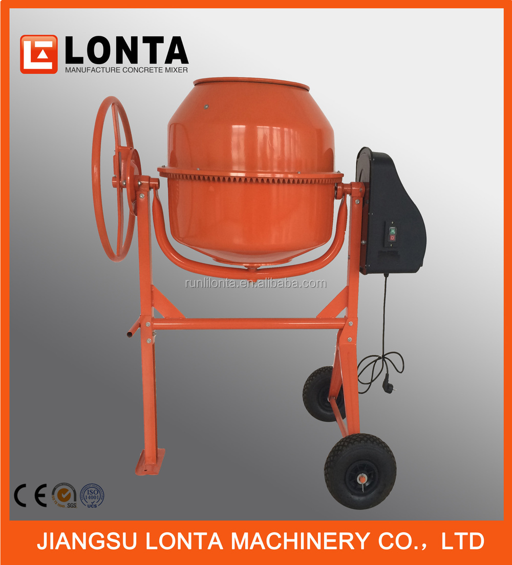Hot Selling 80-200L portable concrete mixer with plastic motor cover CM80-200-PBC